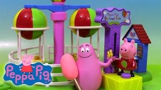 Peppa Pig Les Montgolfières et Barbapapa ♥ Peppa Pig Balloon Ride Theme Park