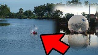 โครตเสี่ยง! ใช้ชีวิตในลูกบอลกลางแม่น้ำ24ชั่วโมง