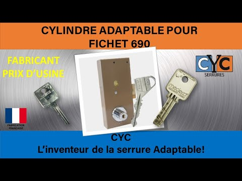 fichet 690 serrure cle apprenez a changer tout seul en 10 minutes le cylindre par cyc youtube. Black Bedroom Furniture Sets. Home Design Ideas