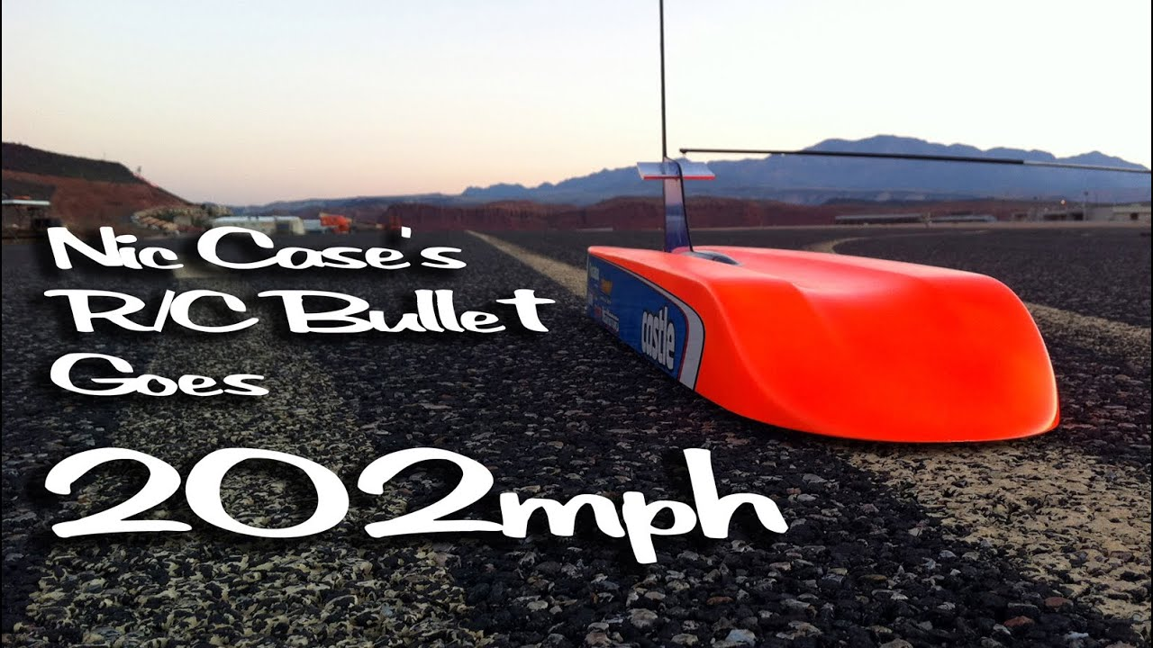 The First Radio Controlled Car to Achieve 200mph - Nic Case - YouTube