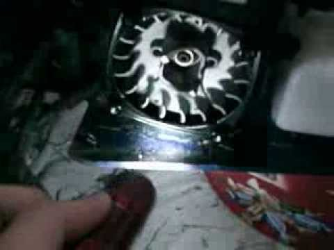 how to maintain your rc car part 2 cleaning the fly wheel.