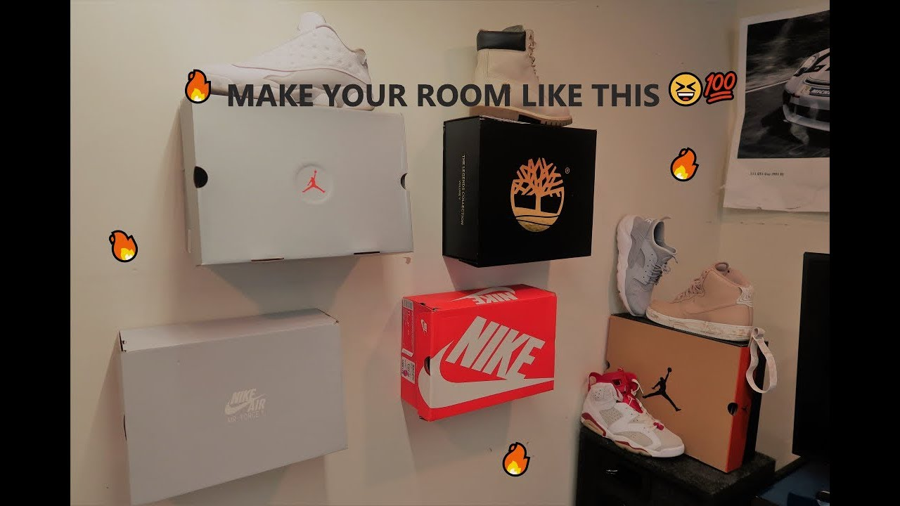 How To Hang Shoe Boxes On Wall Tutorial ‼️ Youtube