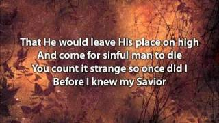 My Savior My God - Aaron Shust (with lyrics).