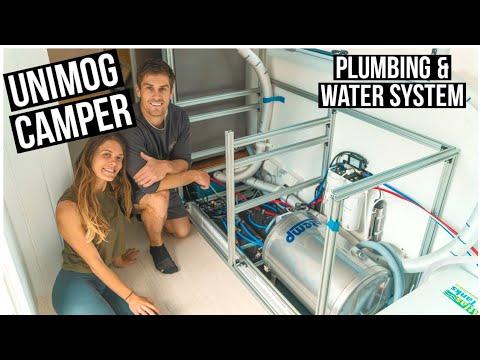 HUGE INTERIOR TRANSFORMATION! Plumbing, Water Heater, Filters, UV, Pump -DIY Expedition Vehicle 28
