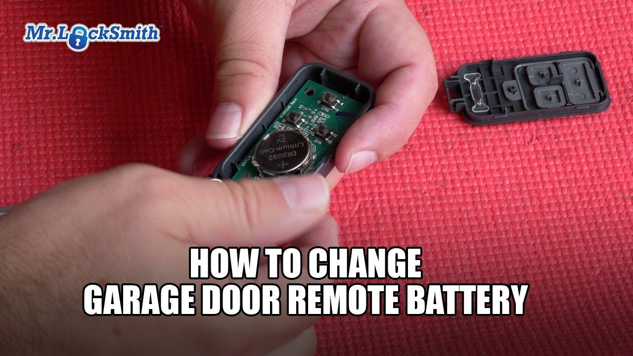 How To Change Garage Door Remote Battery Mr Locksmith Youtube