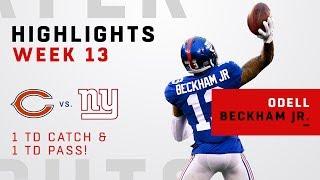 Odell Beckham Jr. Highlights vs. Bears
