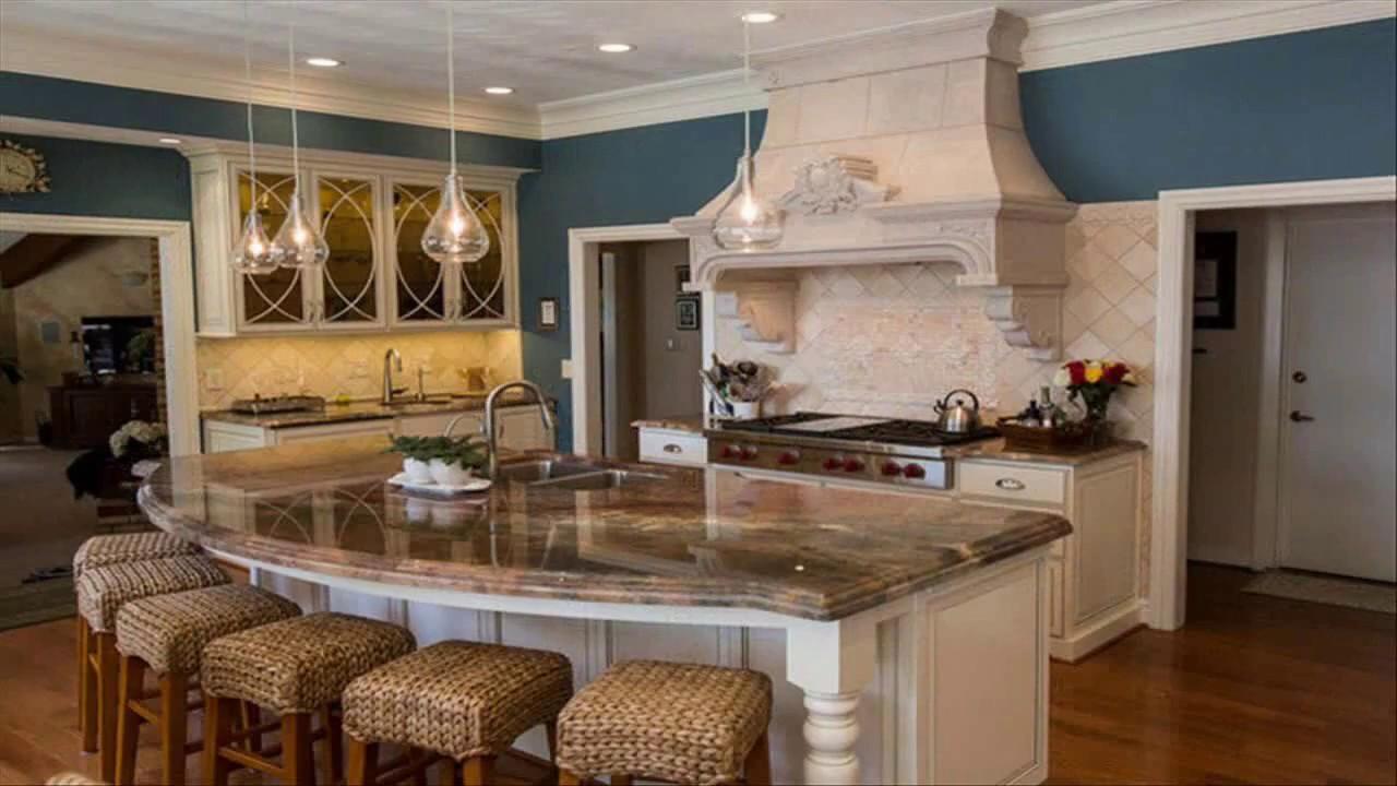 Curved Grey Island | Home decor kitchen, Kitchen design