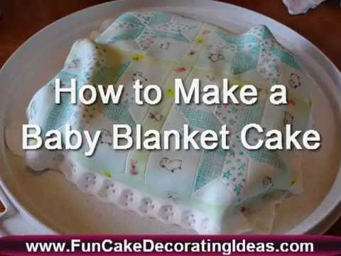 How To Make A Baby Receiving Blanket Cake