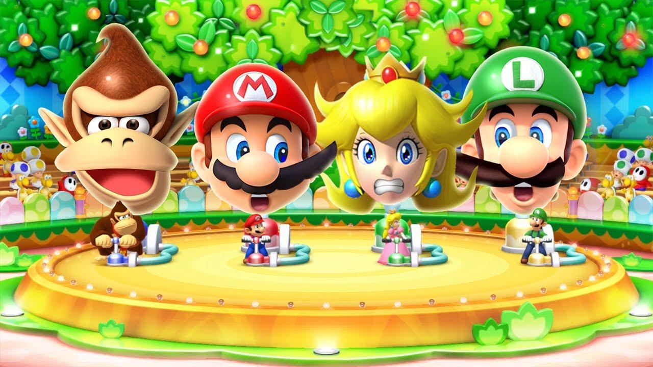 Mario Party 10 MiniGames - Mario Vs Luigi Vs Donkey Kong Vs Daisy (Master Cpu)
