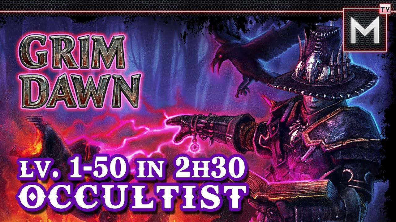 Occultist Leveling 1 to 50 In 2Hrs - Grim Dawn AoM