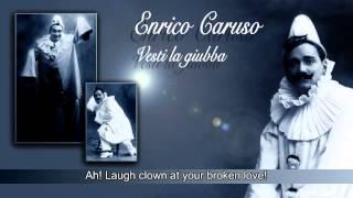 Caruso - Vesti la giubba / cleaned + sub-title