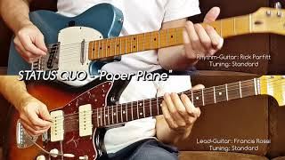 "STATUS QUO - ""Paper Plane"" for Lead- & Rhythm-Guitar (Francis Rossi, Rick Parfitt)"