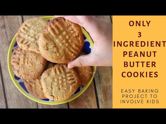 3 Ingredient Peanut Butter Cookies #quarantinecooking #lockdowncooking #cookingwithkids