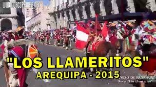 DANZA LOS LLAMERITOS DE ORCOPAMPA SU PASO POR LA PLAZA DE ARMAS DE AREQUIPA