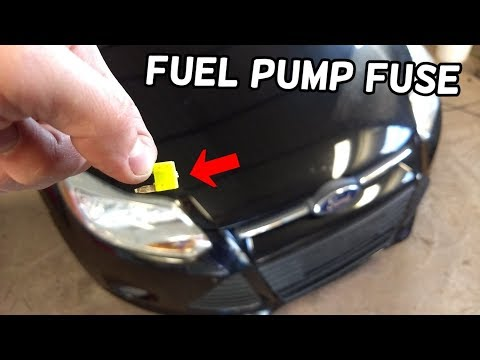 Fuel Pump Fuse Location And Replacement Ford Focus Mk3 2012 2018 Youtube