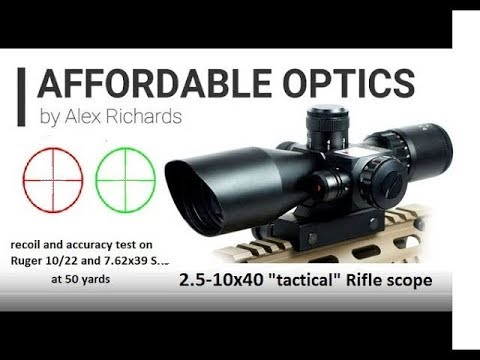 2.5-10X40 Rifle Scope W/Red Laser Review