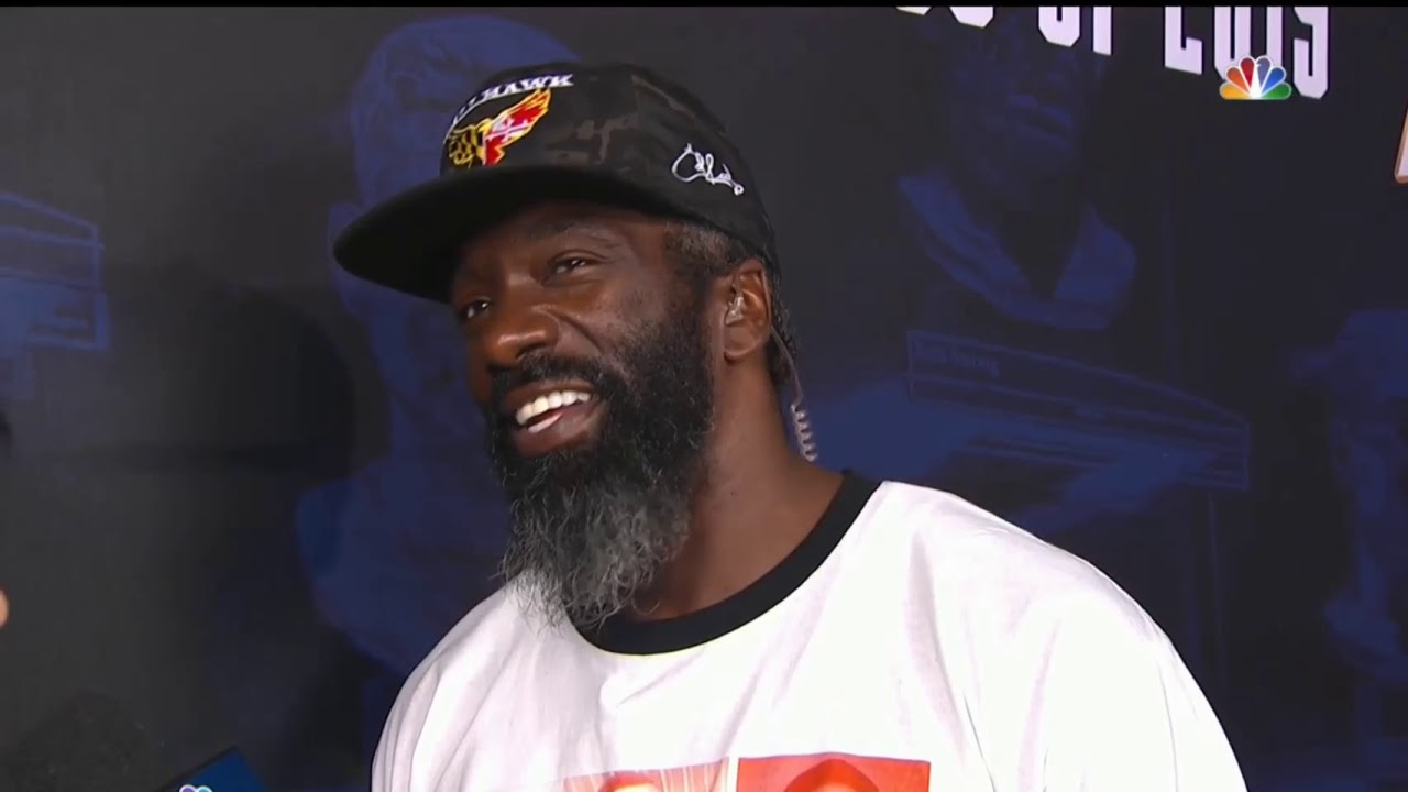 Hurricanes/Ravens Safety Ed Reed interview @ Falcons VS Denver Broncos game 8/1/2019 Hall of Fame
