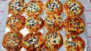 فطائر بيتزا 🍕 (مني بيتزا )الشيف سلام
