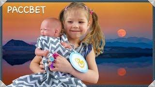 Cпальный мешок для детей Рассвет, серые зигзаги