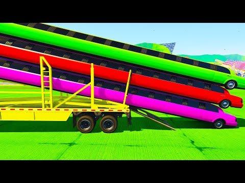 Мультики про машинки Цветные Длинные Лимузины и Автовоз Учим Цвета  Мультфильмы для детей