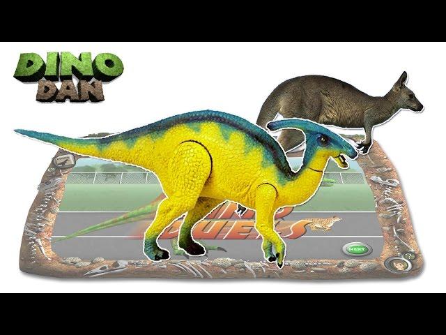 DINO DAN  DINO DUELS # 7 : Parasaurolophus  VS. Kangaroo