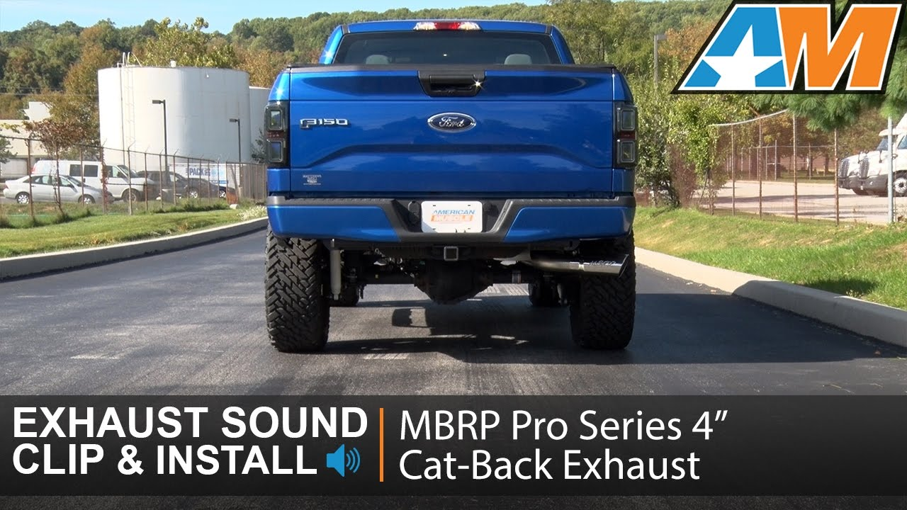 2015 2016 f 150 3 5l ecoboost mbrp pro series 4 cat back exhaust sound clip install
