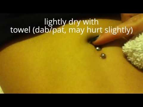 How to clean new belly button piercing