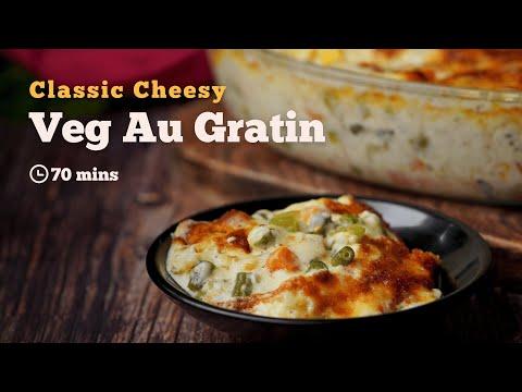 Veg Au Gratin Recipe | Baked Veg Au Gratin Recipe | Baked Recipes | Vegetarian recipe | Cookd