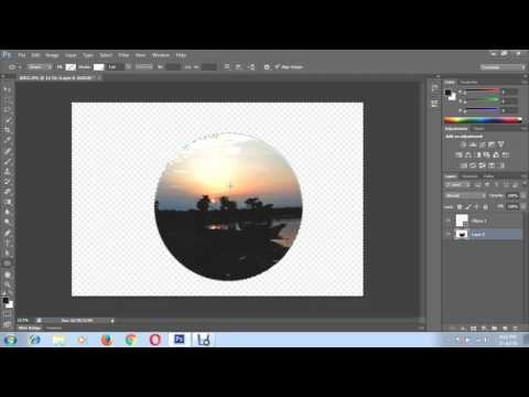 How to put a picture in a circle shape using Photoshop