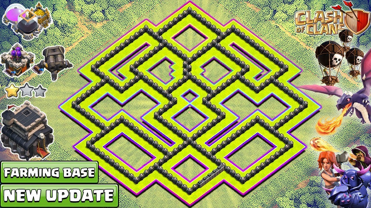 new town hall 9 farming base 2018 best th9 base 2018 clash of