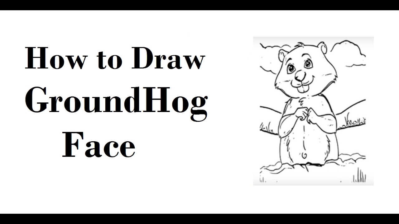 How to draw GroundHog Face Drawing Step by Step - YouTube