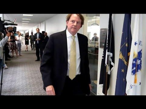 White House counsel Don McGahn exits