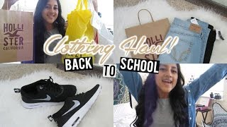 Back to School: CLOTHING HAUL! 2015