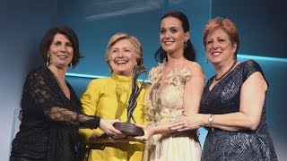 Hillary Clinton Makes Surprise Appearance to 'Celebrate' Katy Perry at UNICEF Snowflake Ball