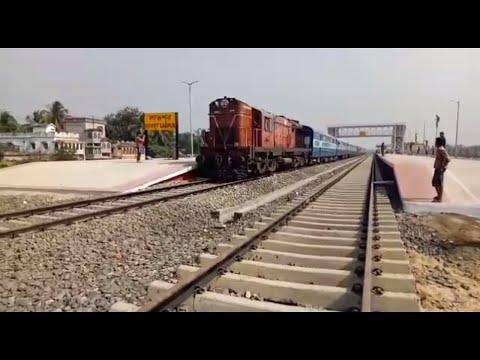 FIRST TRAIN ON RALWAY TRACK || LABPUR STATION || KATWA-AHMEDPUR BROAD GAUGE LINE