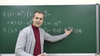Алгебра 8. Урок 16 - Стандартный вид числа