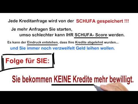STOP: Kredit OHNE SCHUFA Der schlimmste Fehler beim Kreditvergleich- SCHUFA neutral