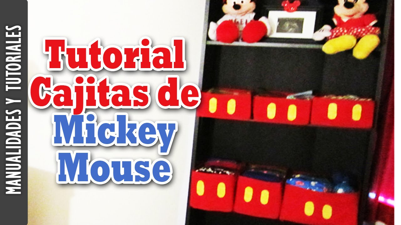 Tutorial Cajitas de Mickey Mouse Decoracin del cuarto Los290ss