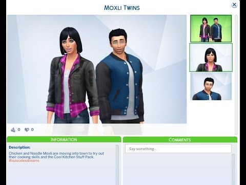 "The Sims 4: Cool Kitchen Stuff #1 ""Moxli Twins""  "