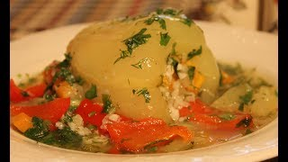 Перчики фаршированные рисом и овощами(Bell peppers with rice and vegetables)