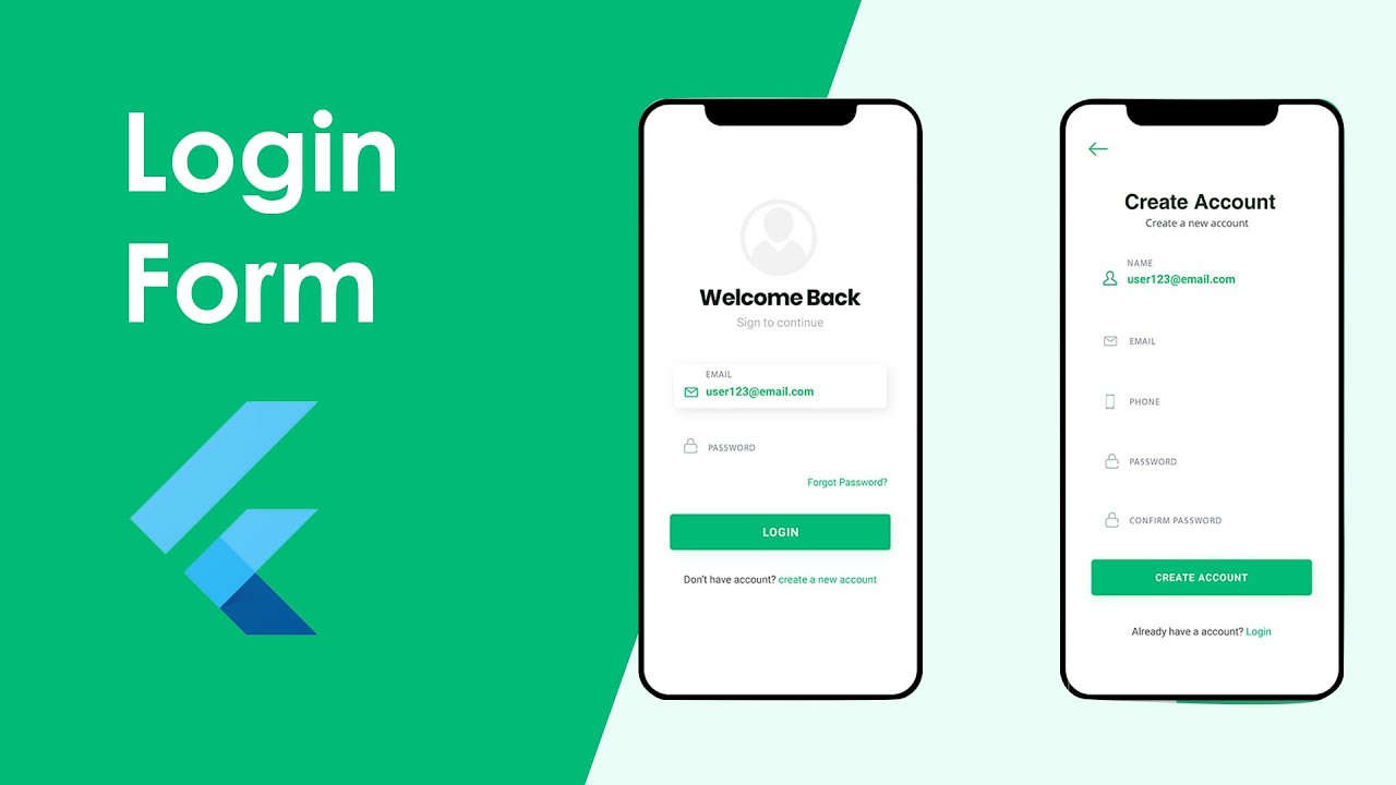 How to Build Login Form UI from Scratch using Flutter