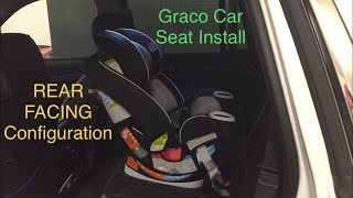 How to install a car seat rear-facing baby seat : Graco Car seat Install. Graco 4ever 4 in 1