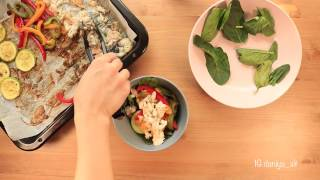 Теплый пп салат из судака и овощей | Легкий и быстрый рецепт