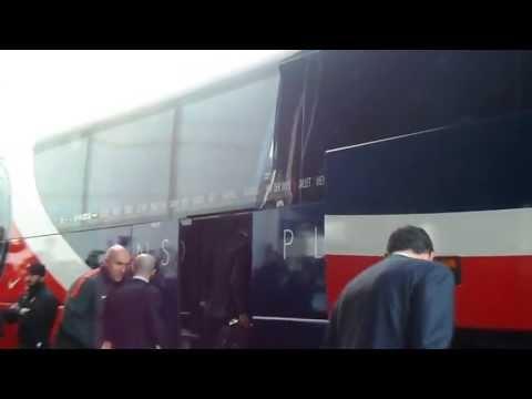 David Beckham Leaving His Hotel In Barcelona Before The PSG VS Barça Match 10/04/2013