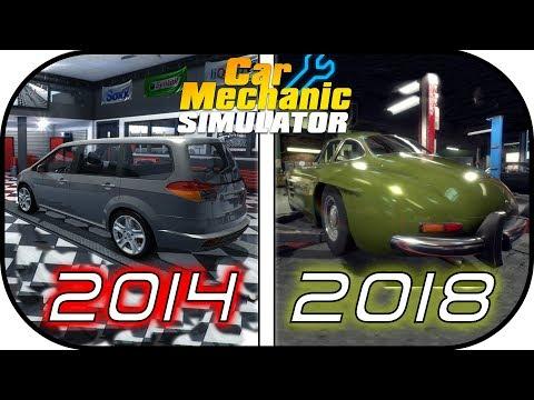 EVOLUTION of CAR MECHANIC SIMULATOR games (2014 vs 2015 vs 2018) video game graphic