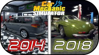 EVOLUTION of CAR MECHANIC SIMULATOR games (2014 vs 2015 vs 2018) video game graphic
