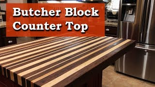 Butcher Block Countertop - Walnut and Maple Long Grain