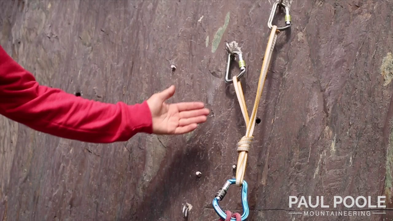 Principles of a safe rock climbing belay