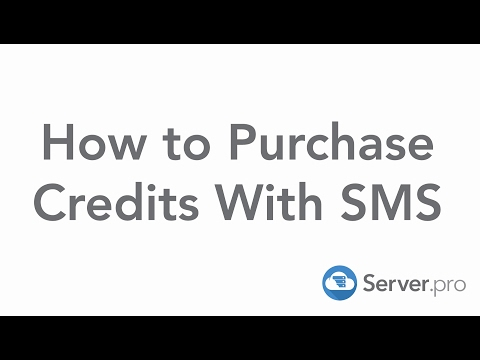 How To Purchase Credits With Sms