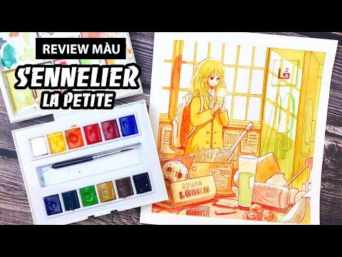 [ Hoạ cụ ] Review màu nước SENNELIER LA PETITE | Lobeo Art